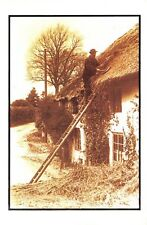 Nostalgia Postcard The Old Thatcher at Porlock, Somerset c1900 Repro Card NS1