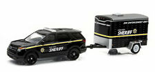 GreenLight 1/64 Hitch & Tow 3 2012 Ford Police SUV Trailer Model
