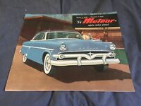 1951 Ford Flat Head V8 Full Line Color Brochure Catalog Prospekt
