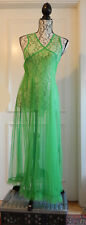 Rimini Wickelkleid Tüll knallgrün transparent L-XL gauze dress bright green