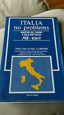 Vintage 1991 Italia No Problems Ministero Del Turismo Road Map Of Italy Italian