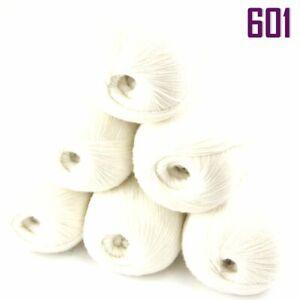 Sale 6BallsX50gr Luxury Soft Mongolian Pure Cashmere Hand Knitting Wool Yarn 601