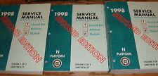 1998 Grand Am Achieva Buick Skylark Shop Service Manual Vol 1 2 3 Set 98