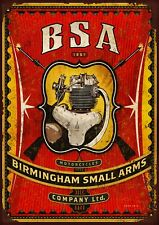 BSA motor cycles Metal Wall Sign