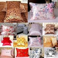 16 Momme 100% Mulberry Silk Floral Pillow Cases Covers Pillowcases Zippered Size