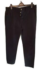 Mens Casual/Formal Trousers/Pants Waist 40, 33 inch Leg Black Kangol.