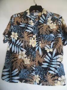 Columbia  Floral Hawaiian Womens Blouse Top Shirt Size PM
