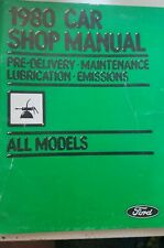 Book Ford 1980 Car Shop Manual Pre Delivery Maintenance Lubrication All Models