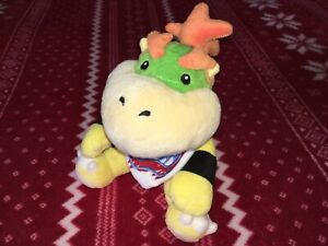 "Official 7"" Sanei Super Mario BOWSER JR. Plush Nintendo Toy Doll JAPAN 2011 Used"