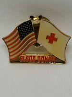 American Red Cross ARC Blood Donor Flags Pin Bin 3/23