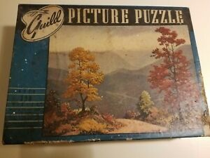 Vintage GUILD Whitman Picture Puzzle Autumn in the Smokies 1950
