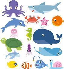 Sea Creatures Bedroom wall stickers Vinyl Graphics Baby Nursery Childrens