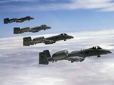 MILITARY AIR PLANE FIGHTER JET THUNDERBOLT FORMATION FLY POSTER PRINT BB1115A