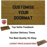 Personalised Coir Door / Floor Mat 40cm x 60cm Internal Coir With Black Letters