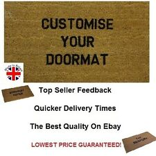 Personalised Coir Door / Floor Mat 40cm x 70cm Internal Coir With Black Letters