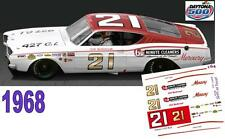 CD_DC-1968 #21 Cale Yarborough  1968 Mercury Cyclone NASCAR  1:64 Scale Decals