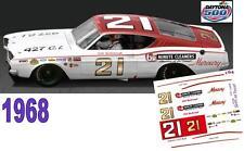 CD_DC-1968 #21 Cale Yarborough  1968 Mercury Cyclone NASCAR  1:64 Scale Decals