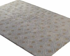"Bashian Rugs Hand Tufted Runner Viscose Morocco Light Blue -2'6"" x 8'"