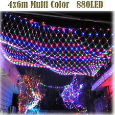 6m*4m 670 LED String Fairy Lights Net Mesh Curtain Wedding Party Decor Colorful