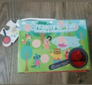 Brand new in box springtime fun search & reveal Puzzle 48 pcs