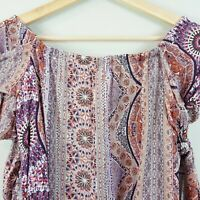 JAASE  | Womens  Boho Print off the shoulder Top  [ Size XS or AU 8 / US 4 ]