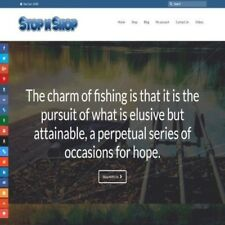 Fully Stocked Dropshipping Fishing Website Store 300 Hits A Day