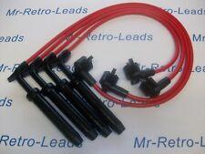 RED 8MM PERFORMANCE IGNITION LEADS FORD ESCORT MK5 FIESTA MK3 TURBO XR2i I.6i