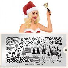 MoYou London FESTIVE 8 Collection Stamping Schablone, Weihnachten Tannenbaum XL
