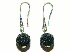 Shamballa Crystal Disco Ball Drop Earrings White, Red, Blue, Pink, Black E259