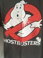 Vintage Ghostbusters L T-Shirt 80s Movie Short Sleeve Gray