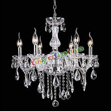 Modern Chain Candle Crystal Venetian Style Chandeliers Pendant Ceiling Lighting