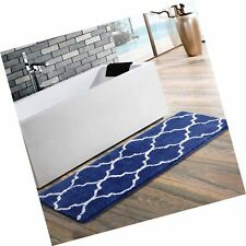 Uphome Moroccan Patten Extra Long Bathroom Rug, Microfiber Washable Non-Slip .