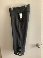 IDEOLOGY Womens Sz XXL Space Dye (gray)  Fitness Workout Capri Legging Pants NWT