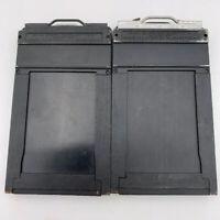 Lot Of 2 Vintage GRAFLEX  Wood Cut Film Holders Type 6 - 2 1/4 x 3 1/4