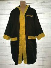Rocky Balboa Movie Boxing Costume Robe Shorts Italian stallion Black Yellow Med