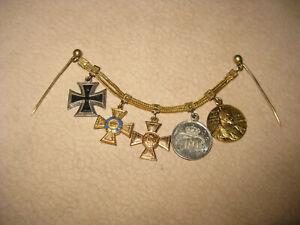 Miniaturenkette Preußen Kronenorden Eisernes Kreuz Medaille Orden