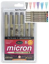 Sakura Pigma Micron Fine Line Pen Set - Size 01 (.25mm) - 6 Colors - BrandNEW