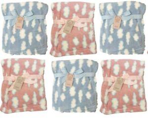 Baby Blanket Soft Fleece Wrap NewBorn Boy Girl Pram Car Crib Moses Basket New