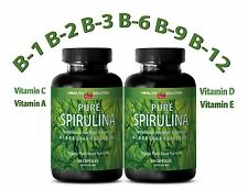 Blue Green SPIRULINA Plant-Based Dietary Supplement (2 Bottle 120 Caps)
