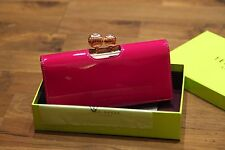 Ted Baker 100% Original KIMMIKO Patent Leather Purple Matinee Purse RRP £79