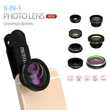 8in1 Clip On Fisheye Wide Angle Teleconverter CPL Macro Lens For iPhone Samsung