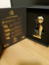 "TORONTO RAPTORS 2019 NBA CHAMPS 4"" LARRY O'BRIEN TROPHY BOX SET 18K Gold Plated"