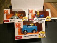 Minions Die Cast Vehicles 3x