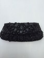 ACCESSORIZE BLACK BEADED EVENING HAND CLUTCH BAG - Mint Condition, Used Once