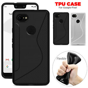For Google Pixel 3 / 3 XL Slim TPU Silicone Shockproof Gel Case Protection Cover