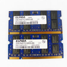 4GB 2X 2GB PC2-6400 DDR2-800MHz Memory RAM For Dell Latitude D530 531 D620 D630
