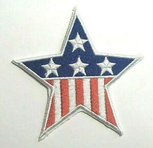 """USA Star Flag Patch Red White & Blue American Flag Patch Embroidered Iron On-3"""""""