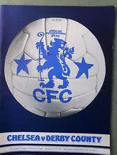 Chelsea v Derby County 1977/78 programme