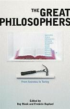 The Great Philosophers, Ray Monk, Used; Very Good Book