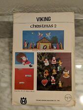 Viking Husqvarna Sewing Pattern Christmas 2 Wallhanging Cardholder Ornaments MCM